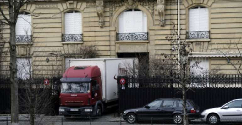 Obiang's property on one of the French capital's poshest streets was seized in 2012 along with a fleet of luxury cars including two Bugatti Veyrons and a Rolls Royce Phantom.  By ERIC FEFERBERG (AFP/File)