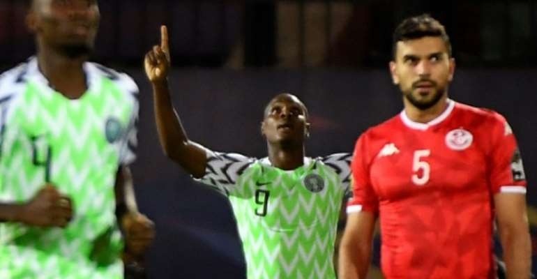 Odion Ighalo's winner against Tunisia in the Africa Cup of Nations third place playoff sealed him the Golden Boot.  By Khaled DESOUKI (AFP/File)