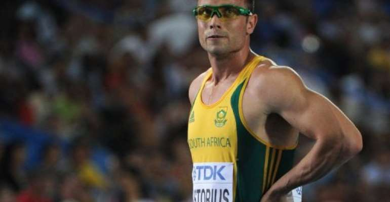 Pistorius uses carbon fibre prosthetic running blades and has bettered the Olympics qualifying mark of 45.30 seconds.  By Olivier Morin (AFP/File)