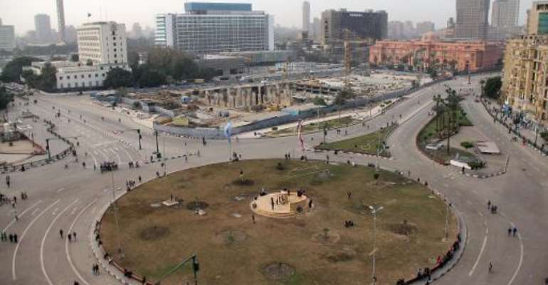 Cairo's Tahrir Square is seen January 26, 2014.  By Ahmed Taranh (AFP)