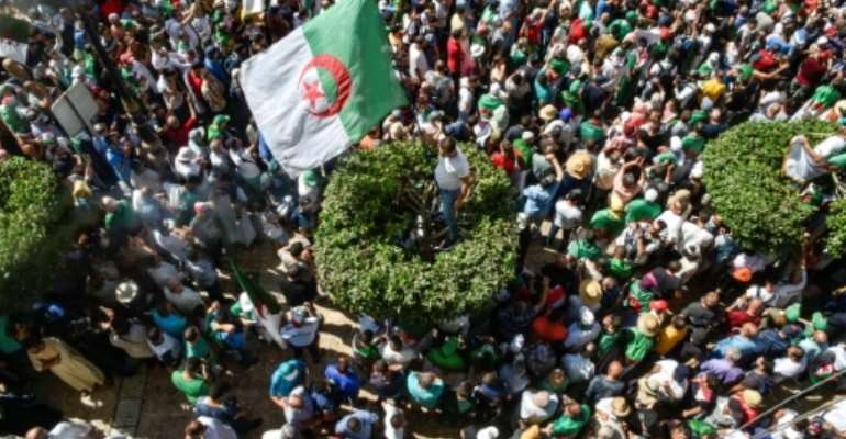 Ongoing demonstrations in Algeria against ruling powers kicked off on February 22.  By RYAD KRAMDI (AFP/File)