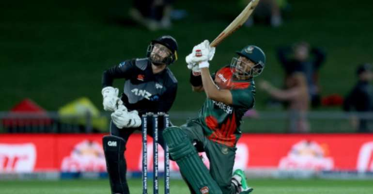 Opener Soumya Sarkar top-scored for Bangladesh with 68 in a Twenty20 international victory over Zimbabwe in Harare on Sunday.  By Marty MELVILLE (AFP)