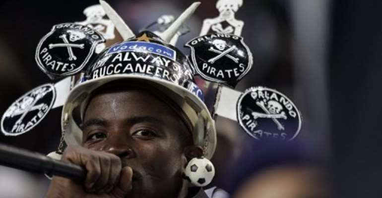 An Orlando Pirates supporter is pictured in 2007.  By Gianluigi Guercia (AFP/File)