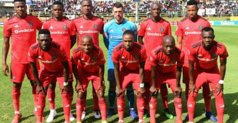 Orlando Pirates were held by Baroka Tuesday in the South African Premiership after conceding a goal that should have been ruled offside..  By STRINGER (AFP)