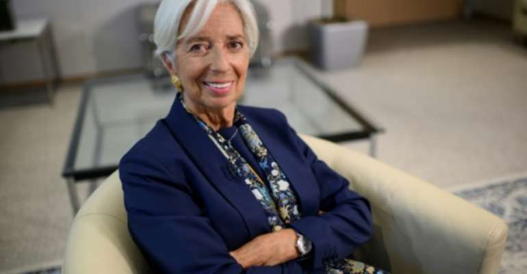 Outgoing IMF Managing Director Christine Lagarde said peace is a key requirement for development in Africa.  By Eric BARADAT (AFP)