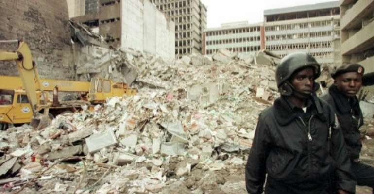 Over 200 people were killed and many more injured in the twin embassy bombings of 1998.  By ALEXANDER JOE (AFP/File)
