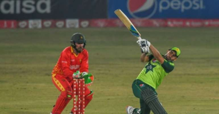 Pakistan's Abdullah Shafique top-scored in the final T20 against Zimbabwe.  By Aamir QURESHI (AFP)