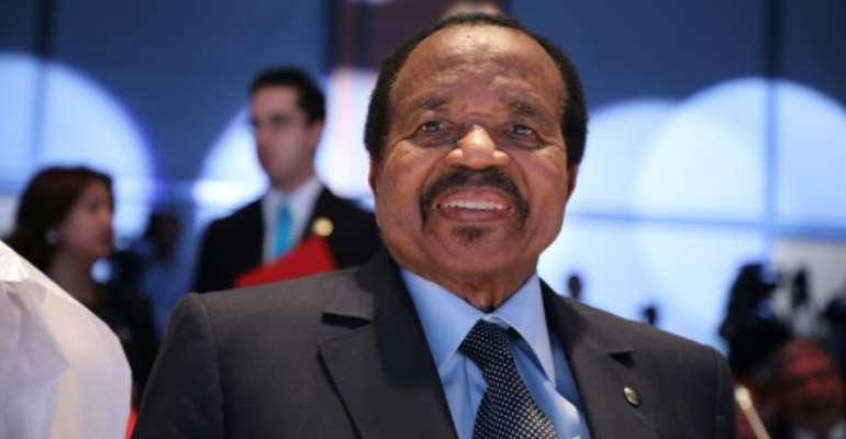 Paul Biya has been president of Cameroon since 1982 and, at 88, is the oldest head of state in Africa.  By Ludovic MARIN (AFP)