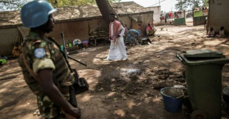 Peacekeepers in the Central African Republic are accused of sexually abusing a teenage girl.  By GIANLUIGI GUERCIA (AFP/File)