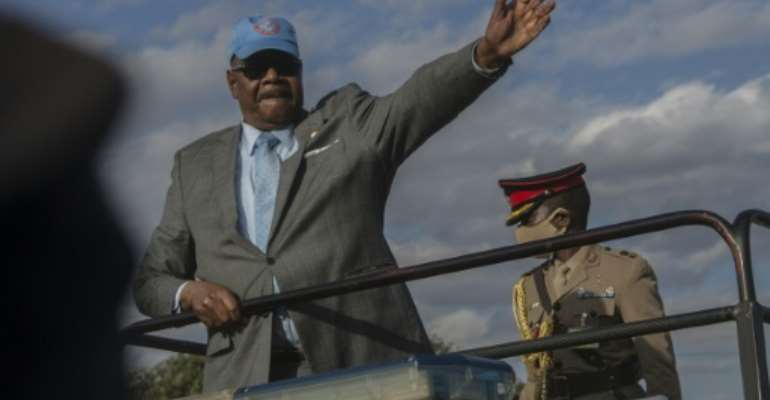 Peter Mutharika, left, came to power on a promise to tackle corruption.  By AMOS GUMULIRA (AFP/File)