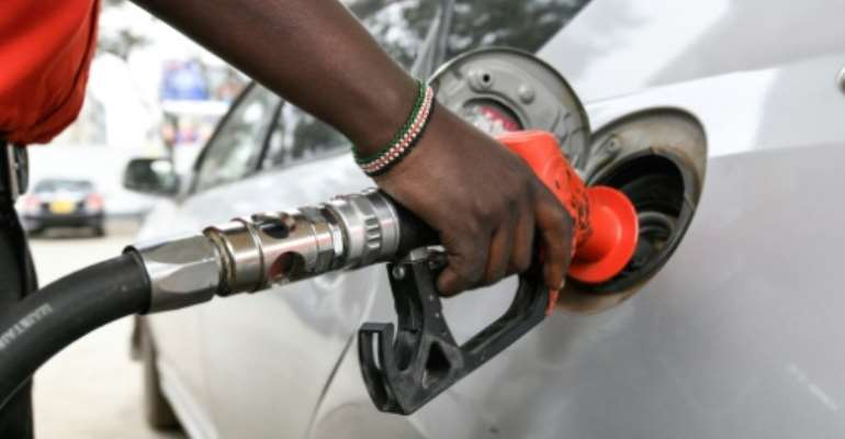 Petrol prices at the pump have gone up by about six percent in Nairobi.  By SIMON MAINA (AFP/File)