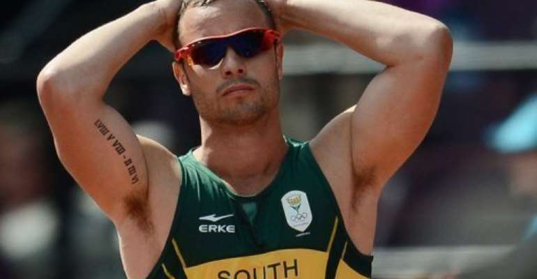South Africa's Olympic runner Oscar Pistorius, seen here during the Paralympics in London on August 9, 2012.  By Franck Fife (AFP/File)