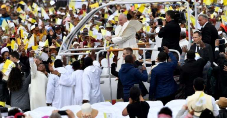Million turn out for Pope Francis Madagascar mass