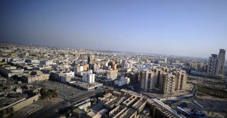 A general view shows the Libyan capital Tripoli on August 22, 2011.  By Filippo Monteforte (AFP/File)