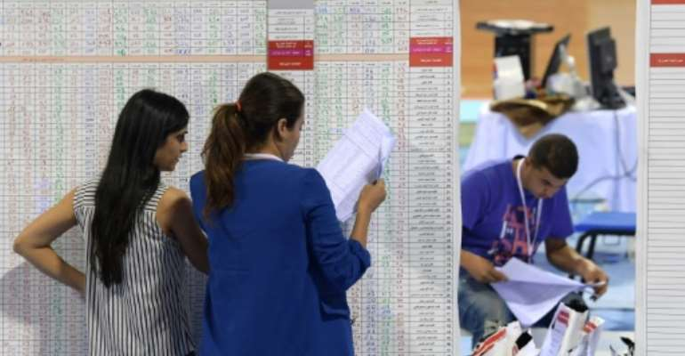 Preliminary official results of Tunisia's legislative elections are expected on Wednesday.  By FETHI BELAID (AFP)