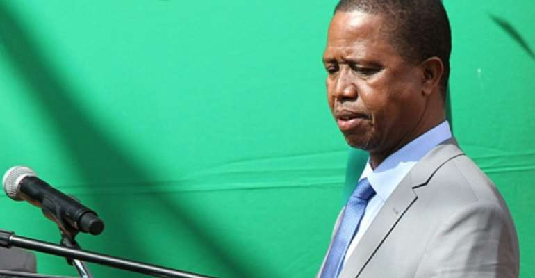 President Edgar Lungu, pictured in July 2017, has targeted the mining sector to generate tax revenue as Zambia struggles with growing debt.  By DAWOOD SALIM (AFP/File)