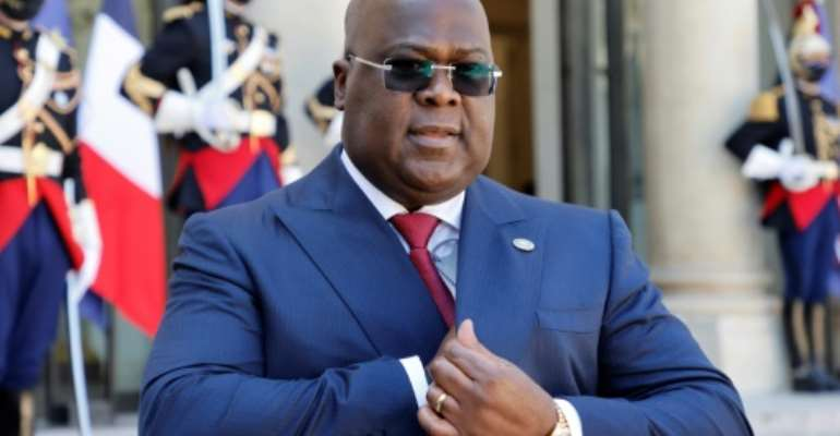 President Felix Tshisekedi has asked for French support to eradicate fighters based in eastern DR Congo.  By Ludovic MARIN (AFP/File)