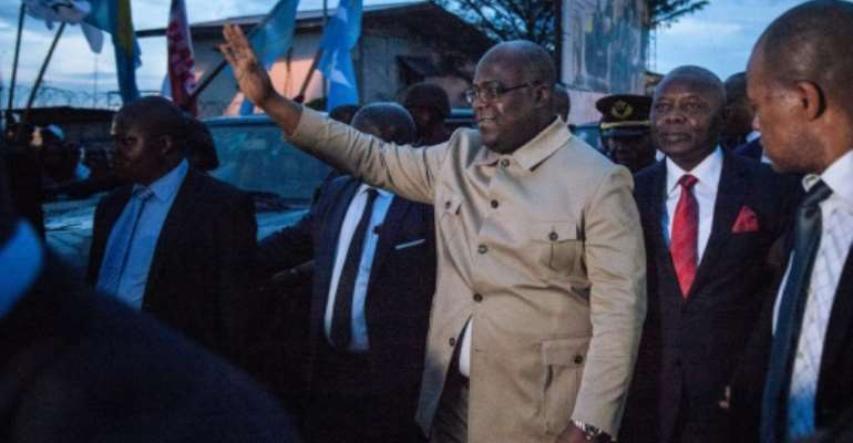 President Felix Tshisekedi has largely failed to exert his authority, hamstrung by a parliament and local officials in the sway of former leader Joseph Kabila.  By ALEXIS HUGUET (AFP/File)