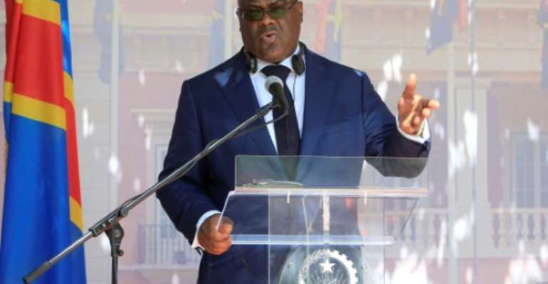 President of Democratic Republic of the Congo Felix Tshisekedi, seen here in February 2019, will visit Washington as the United States voices hope for progress in key areas under his tenure.  By STRINGER (AFP/File)
