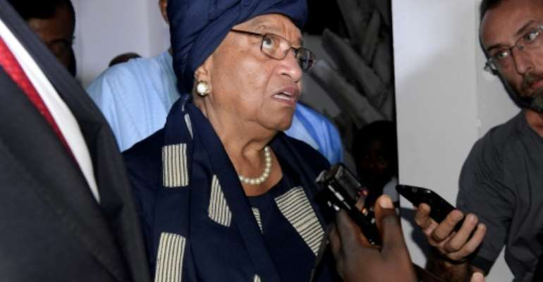 President of Liberia Ellen Johnson Sirleaf led a heavyweight delegation to The Gambia to seek to broker a deal, meeting both Jammeh and Barrow.  By Seyllou (AFP/File)