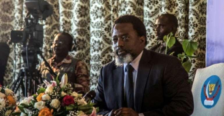 President of the Democratic Republic of Congo Joseph Kabila.  By Thomas NICOLON (AFP/File)