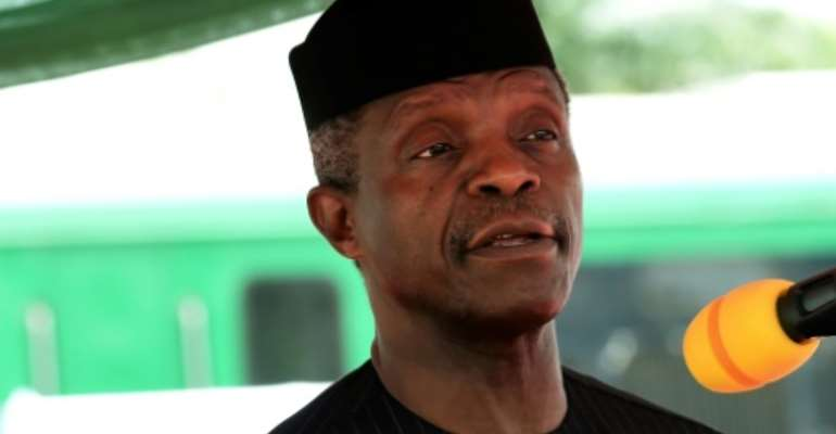 President Yemi Osinbajo is calling for unity in the country amid separatist calls and mounting ethnic tensions.  By PIUS UTOMI EKPEI (AFP)