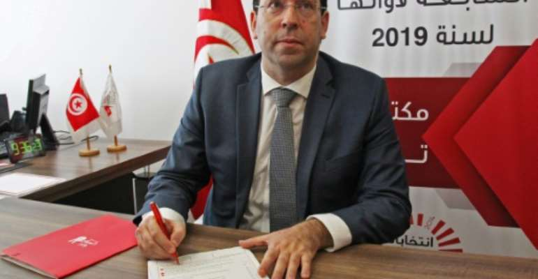 Prime Minister Youssef Chahed is among 69 people who have submitted their candidacy for Tunisia's upcoming presidential elections.  By HASNA (AFP)