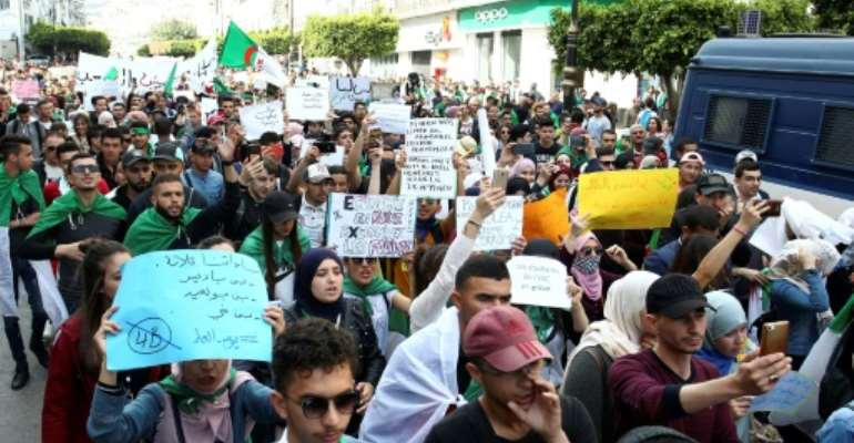 Protesters are demanding a complete overhaul of the political system in Algeria.  By - (AFP)