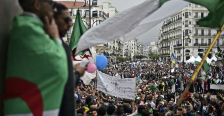 Protesters filled the streets of Algeria's capital for an 11th week of demonstrations.  By RYAD KRAMDI (AFP)