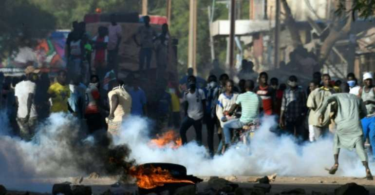 Protests against the official election results in Niger turned violent.  By Issouf SANOGO (AFP/File)