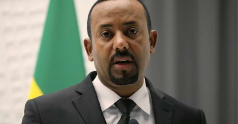 Protests: Ethiopian Prime Minister Abiy Ahmed.  By Ludovic MARIN (POOL/AFP/File)