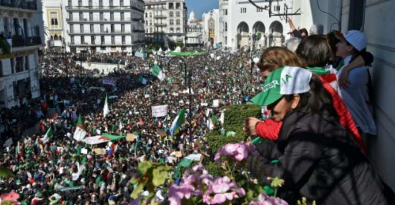 Protests for the resignation of Abdelaziz Bouteflika filled the heart of Algiers. This Friday, after the ailing president finally quit, demonstrators are gathering again in a key test of whether the momentum for reform can be maintained.  By RYAD KRAMDI (AFP/File)