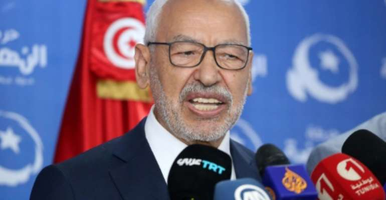 Rached Ghannouchi, the veteran leader of Tunisia's Islamist-inspired Ennahdha party, has never run for office.  By ANIS MILI (AFP/File)