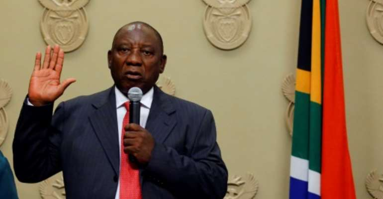 Ramaphosa led talks to end white minority rule.  By MIKE HUTCHINGS (POOL/AFP/File)