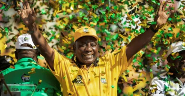 Ramaphosa pledged to wipe out corruption and make the government accountable.  By GIANLUIGI GUERCIA (AFP)
