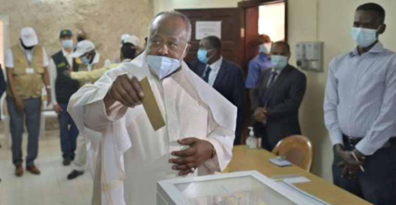 Re-elected for a fifth term in April, Guelleh has ruled Djibouti since 1999.  By TONY KARUMBA (AFP/File)