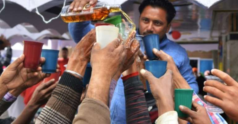 Researchers forsee an additional 50 percent increase in drinkers in India by 2030.  By NARINDER NANU (AFP/File)