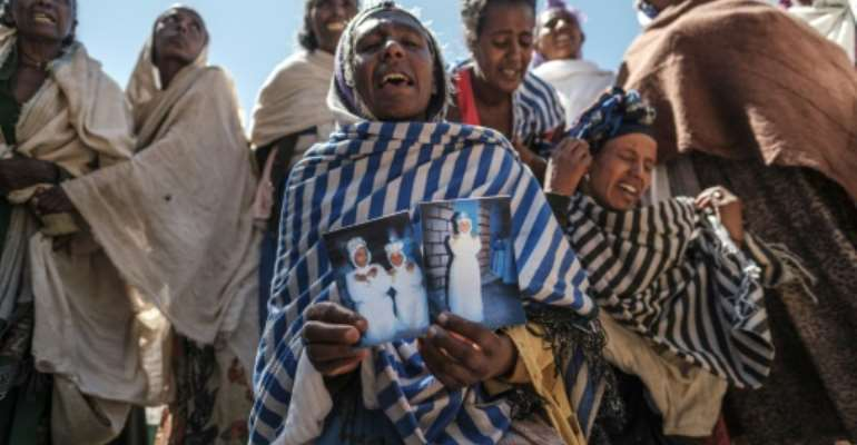 Residents of the Tigrayan village of Dengolat say Eritrean soldiers massacred men and boys there the day after a holy festival.  By EDUARDO SOTERAS (AFP)
