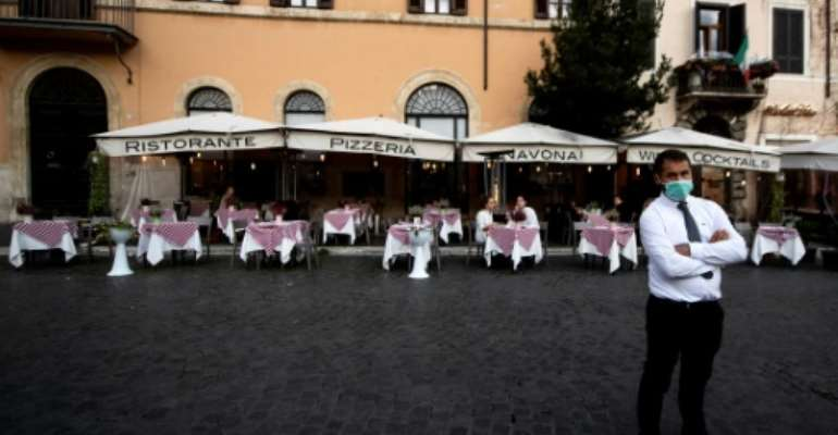 Restaurateurs and bar-owners fear the new round of restrictions in Italy will be the end for them.  By Tiziana FABI (AFP)