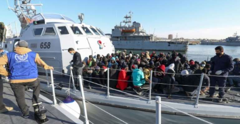 Rights groups have warned that migrants returned to Libya often face abuses.  By Mahmud TURKIA (AFP)