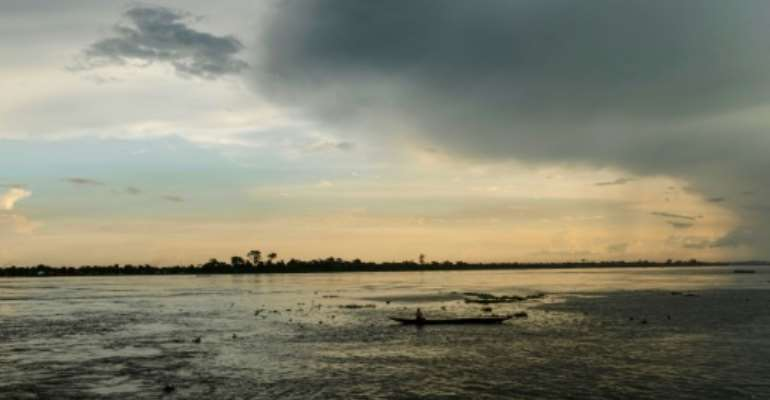 River of spirits: The Ubangui, a tributary of the mighty Congo.  By Camille Laffont (AFP)
