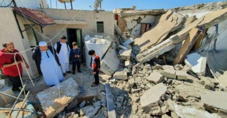 Rockets targeted the Al-Hadaba al-Khadra, Souk al-Joumaa and Abu Slim neighbourhoods in the city's southeastern suburbs.  By Mahmud TURKIA (AFP)