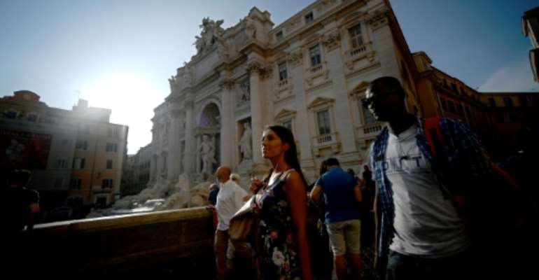 Rome's Trevi Fountain is one of the stops on the tour.  By Filippo MONTEFORTE (AFP)