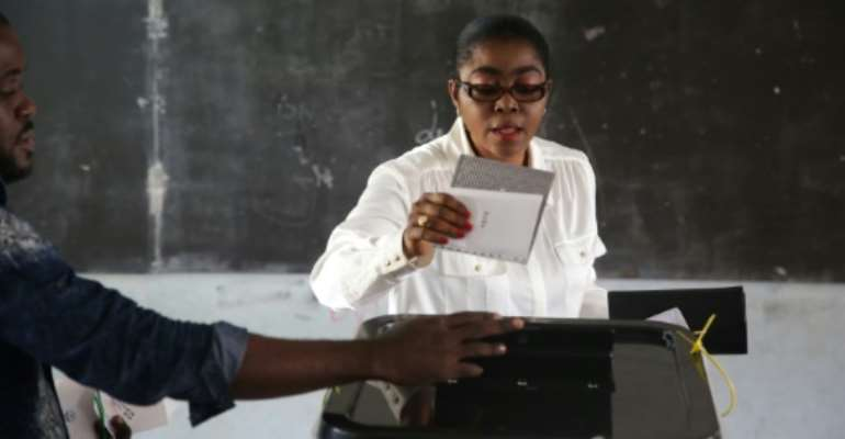 Rose Christiane Ossouka Raponda is an economist by training.  By Joel TATOU (AFP)