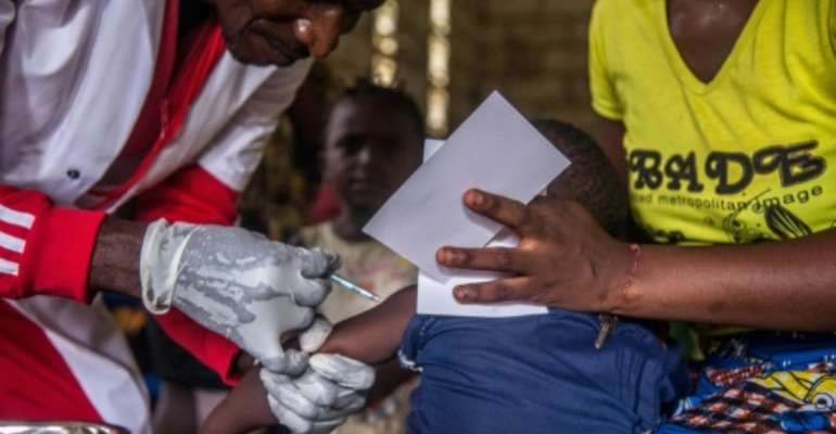 Routine vaccinations will continue in order to prevent the virus from bouncing back.  By JUNIOR KANNAH (AFP/File)
