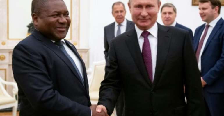 Russia has been looking to expand its influence in Africa and oil and gas producer Mozambique already signed a debt swap agreement with Moscow in 2017.  By Alexander Zemlianichenko (POOL/AFP)