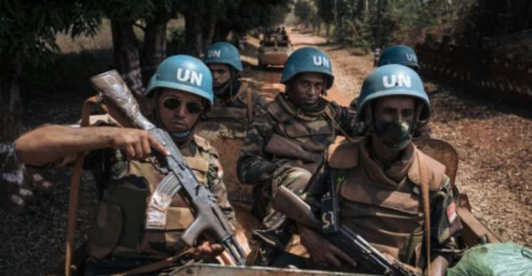 Russian mercenaries are in the Central African Republic alongside troops from the UN peacekeeping mission.  By ALEXIS HUGUET (AFP/File)