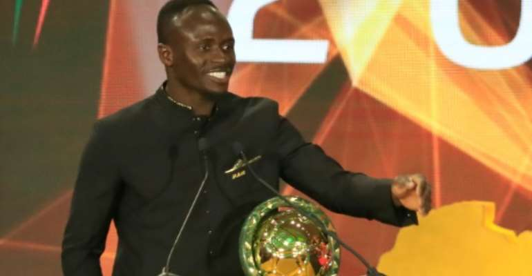 Sadio Mane was in Hurghada to collect his African Player of the Year award.  By Khaled DESOUKI (AFP)