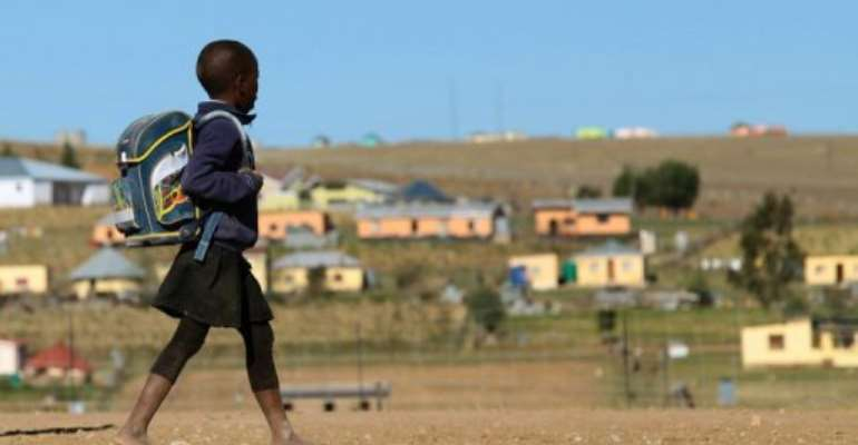 Authorities temporarily closed 16 schools in a Cape Town suburb on August 15, 2013 following a surge in gang violenc.  By Jennifer Bruce (AFP)
