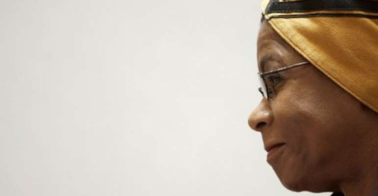 Dr. Mamphela Ramphele attends a press conference in central London on October 26, 2006.  By Leon Neal (AFP/File)